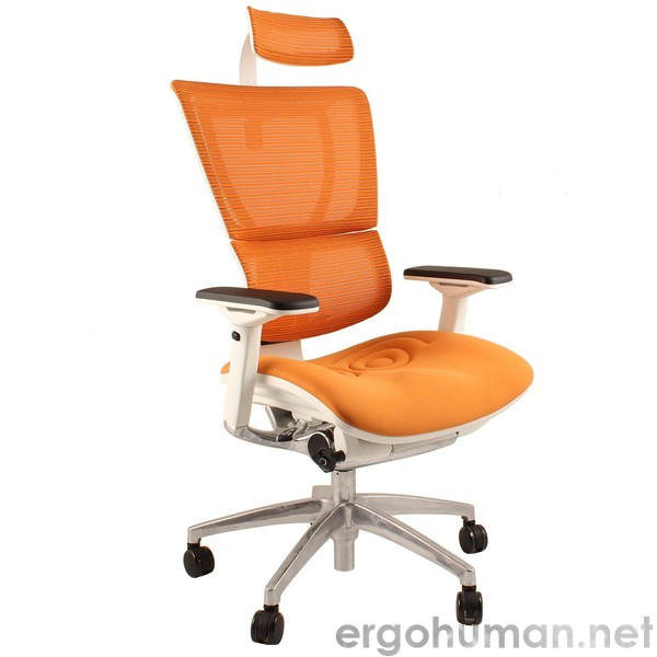 Mirus White Frame Office Chair